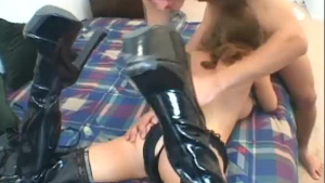 White stud in boots getting anal