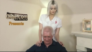 Old man fucks curvy blonde babe