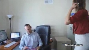Teen secretary fucked by her horny boss