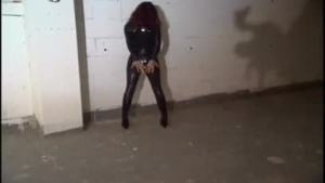 Lovely brunette is getting tied up and tortured in a kinky basement, in a quiet town
